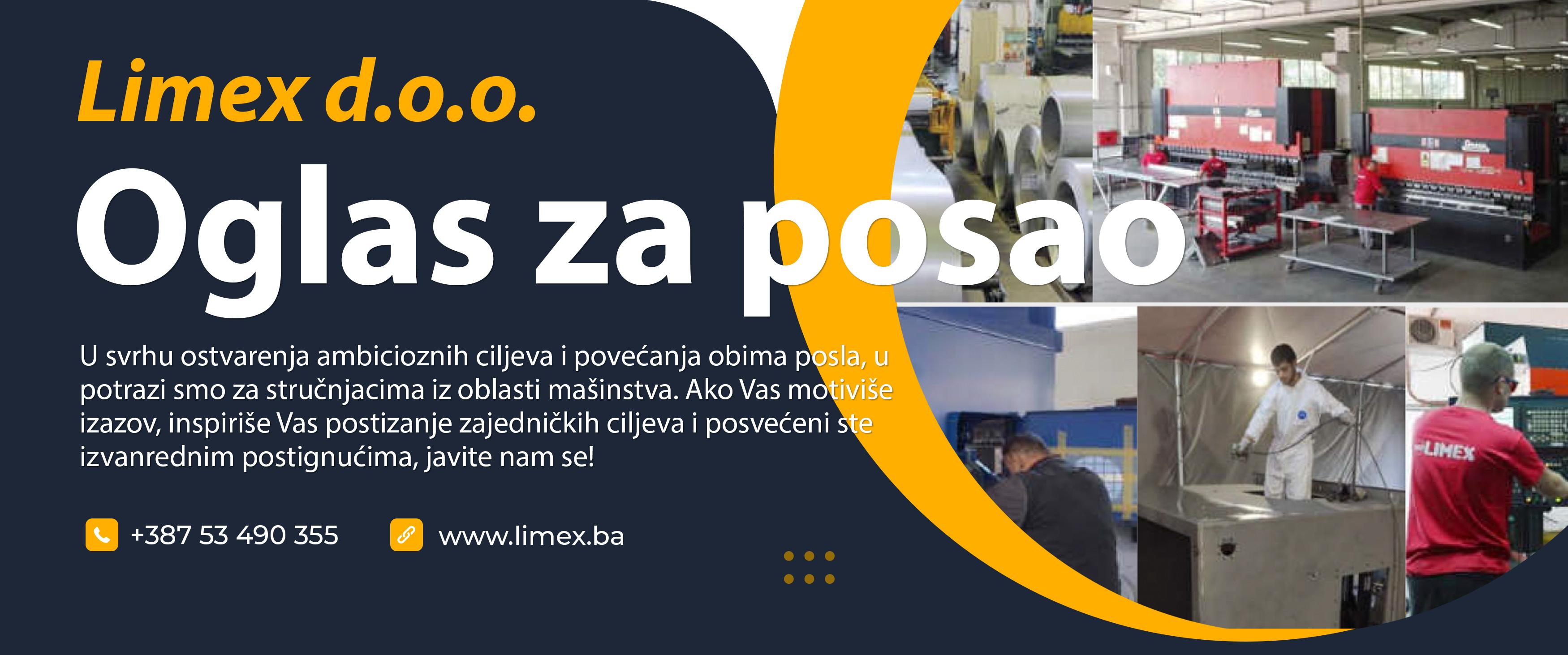 Limex zapošljava radnike