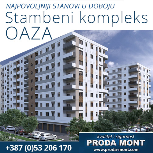 Stambeni kompleks OAZA Doboj - Proda-Mont d.o.o.