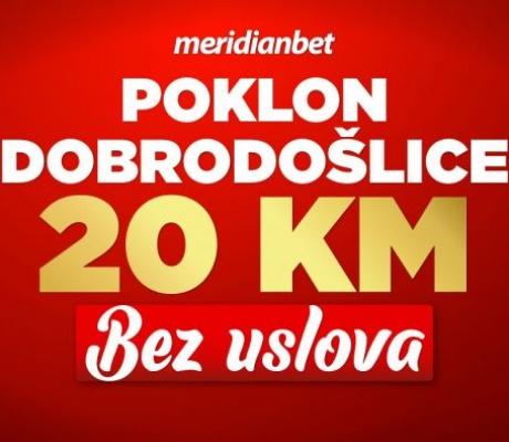 MERIDIAN: Ne propusti uzeti POKLON OD 20 KM bez uslova! Danas se registruješ i poklon je tvoj!
