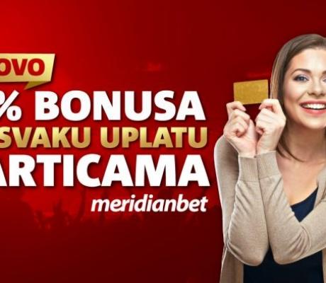 U MERIDIANU DEPOZIT VRIJEDI VIŠE: Za svaku uplatu karticama 10% bonusa