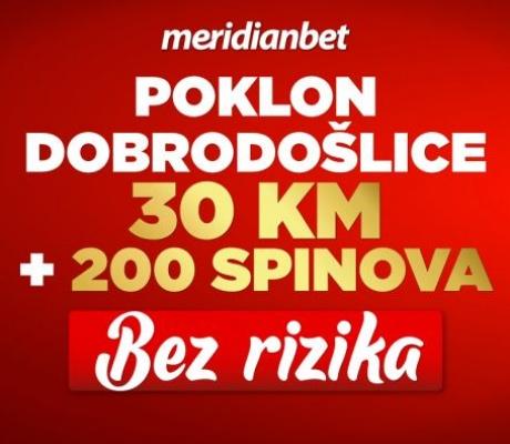 SAMO DANAS BESPLATNO klađenje! 30 KM plus 200 BESPLATNIH SPINOVA!