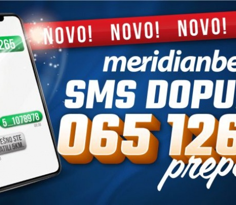 NOVO: Uplati depozit SMS dopunom i uživaj u top ponudi