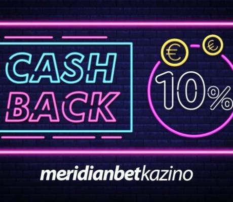 MERIDIANBET ONLINE CASINO: Cashback za igru bez stresa