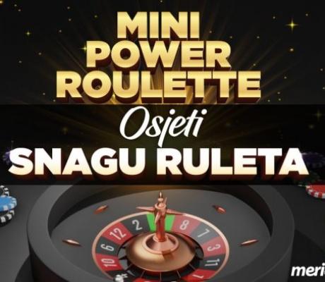Meridian: Mini power roulette – zabava koja vaš ulog povećava za 100 PUTA!