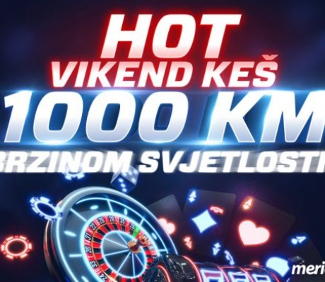 1000 RAZLOGA da se zaigra Meridian Kazino turnir – HOT VIKEND KEŠ