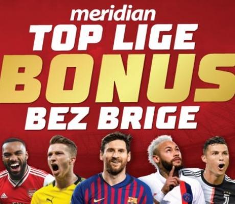 Meridian: Vrhunski fudbalski vikend, sa bonusom od 100% koji se ne propušta!