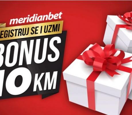 MERIDIAN PONOVO ČASTI: Registrujte se i osvojite 10 KM bonusa