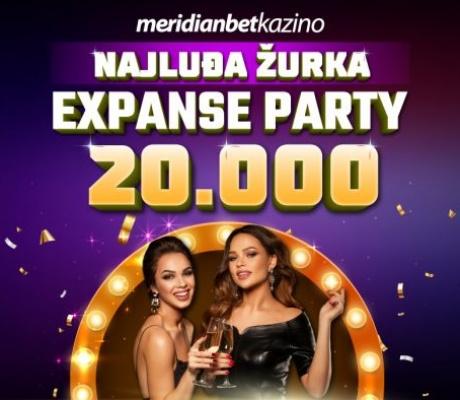 Meridian Online Kazino vas poziva na Expanse Party! NAGRADNI FOND 20.000 KM!